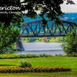 801.14 - The Bill Thorpe Walking Briage as viewed from Carleton Park on Fredericton's northside.