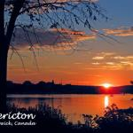 808-12 - Sunset from Carleton Park overlooking downtown Fredericton.